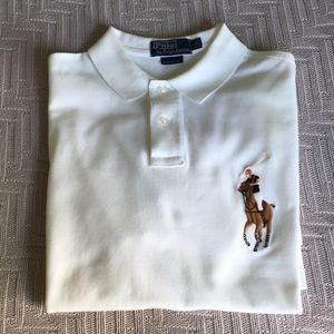 White polo shirt large logo by Polo Ralph Lauren